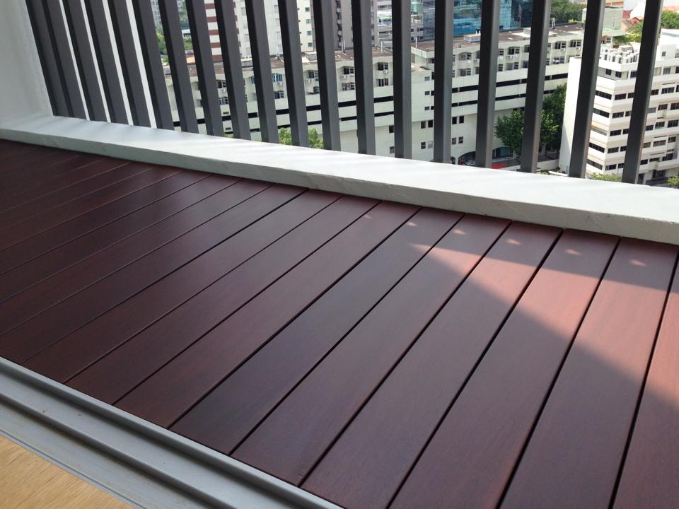 Ironwood Singapore Condo Decking Planter Balcony Hong Ye