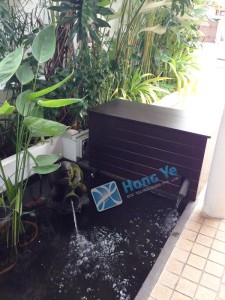 Hongye Singapore custom, bespoke, simple Chengal wood planter Timber Box, outdoor furniture, minimalistic, garden display