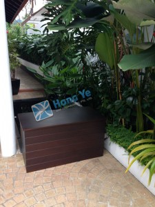 Hongye Singapore Planter custom, bespoke, simple Chengal wood Timber Box, outdoor furniture (2)