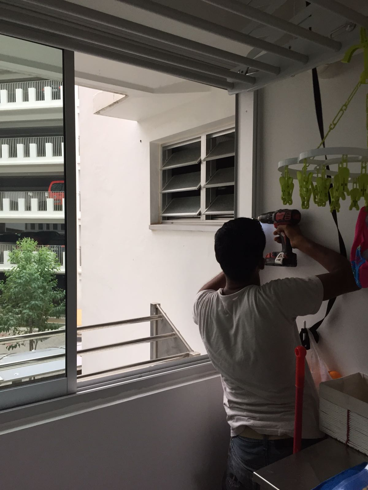 sliding window lock installation Singapore HDB1