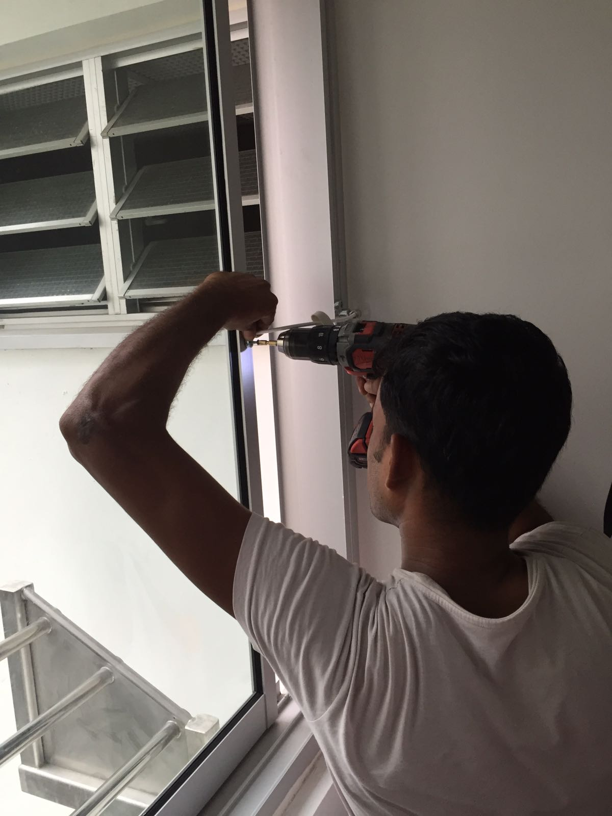sliding window lock installation Singapore HDB2