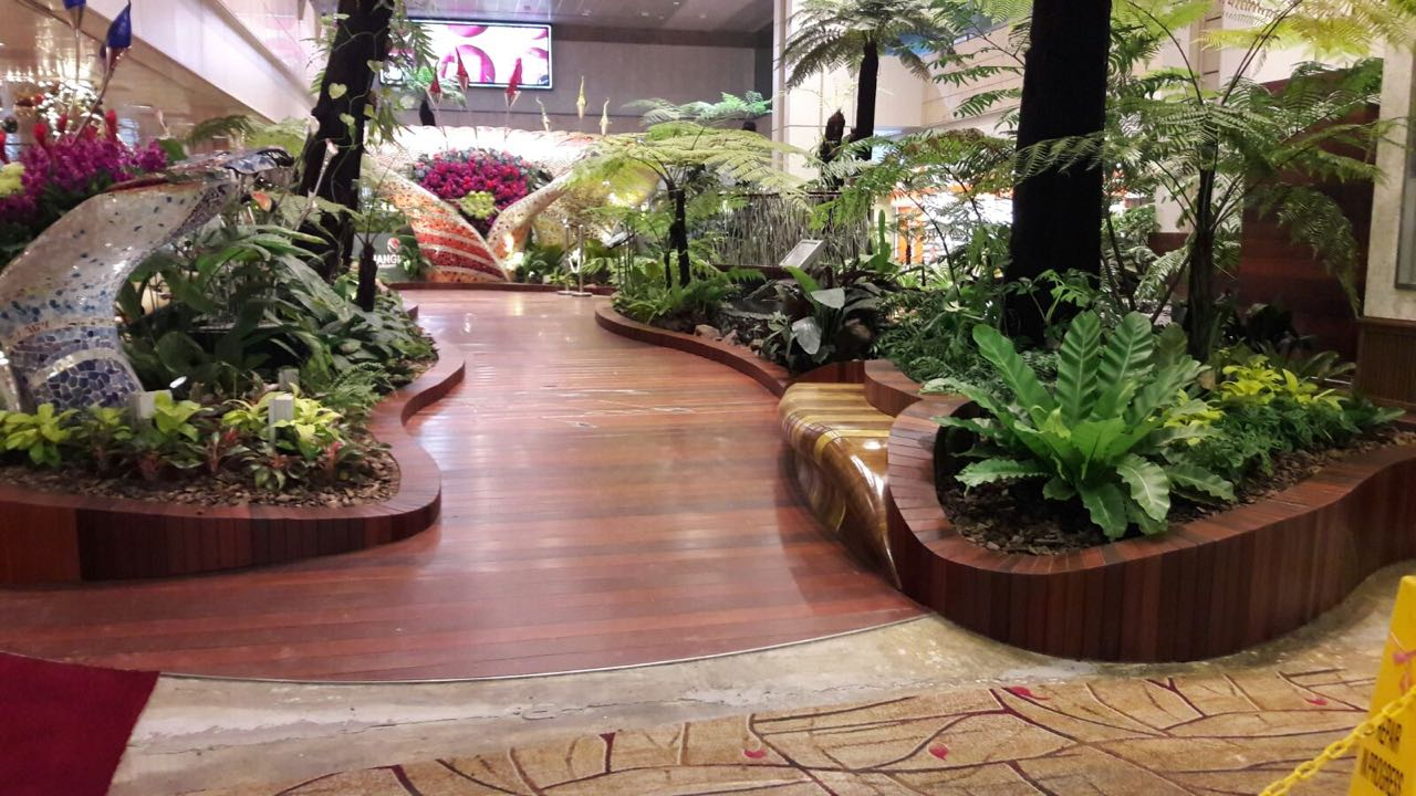 Indoor Garden Decking at Changi Airport | Hong Ye Eco Technologies